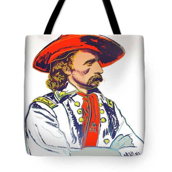 Andy Warhol, General Custer, Cowboys And Indians Series Tote Bag