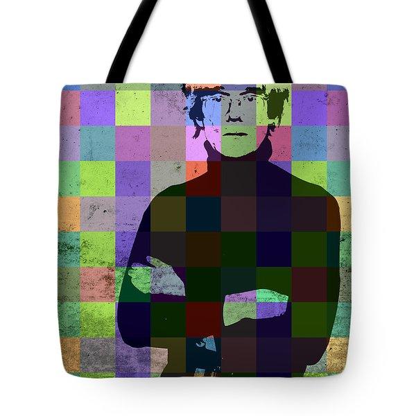 Andy Warhol Hollywood Pop Art Patchwork Portrait Pop Of Color Tote Bag