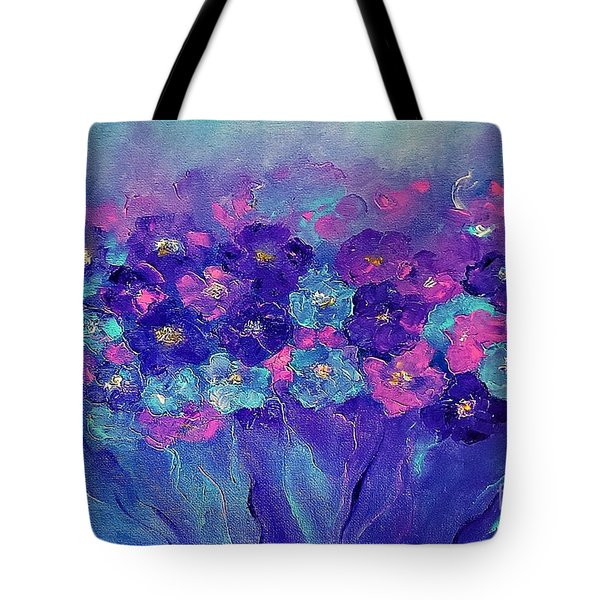 Tote Bag featuring the painting Anemone by AmaS Art