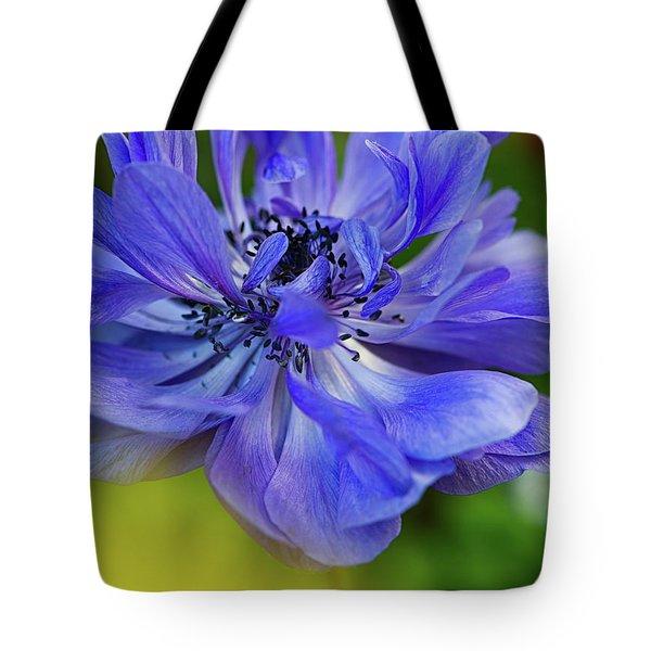 Anemone Blue Tote Bag