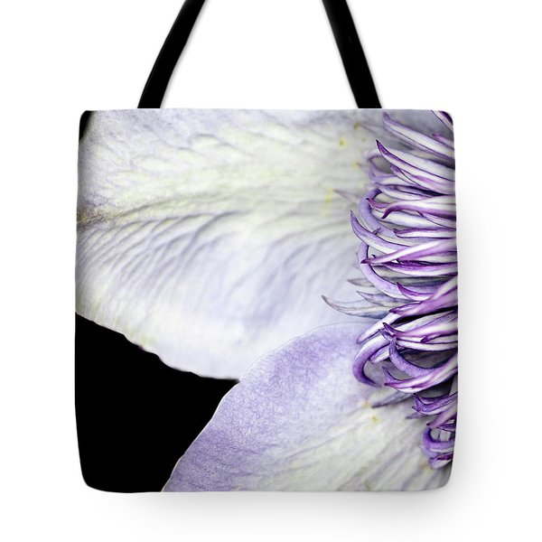 Tote Bag featuring the photograph Anemone Center Edge by Rebecca Cozart