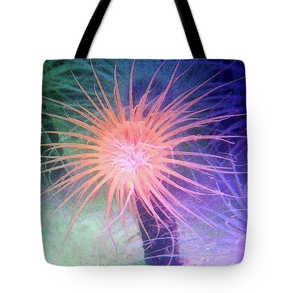 Tote Bag featuring the photograph Anemone Color by Anthony Jones