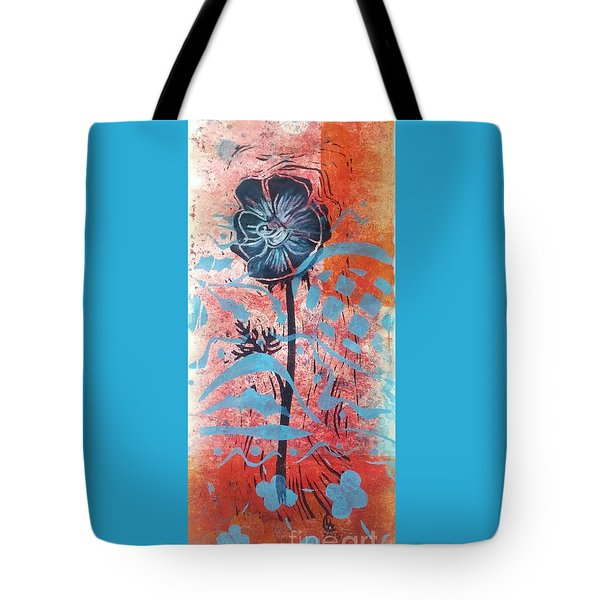Anemone In Orange And Blue Tote Bag