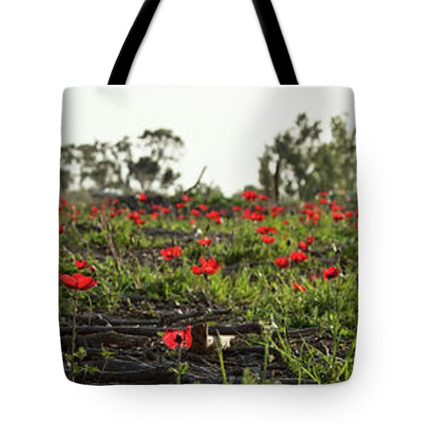 Anemones Forest Panorama Tote Bag by Yoel Koskas
