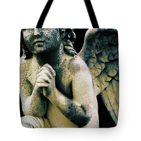 Tote Bag featuring the digital art Angel 2 by Maria Huntley