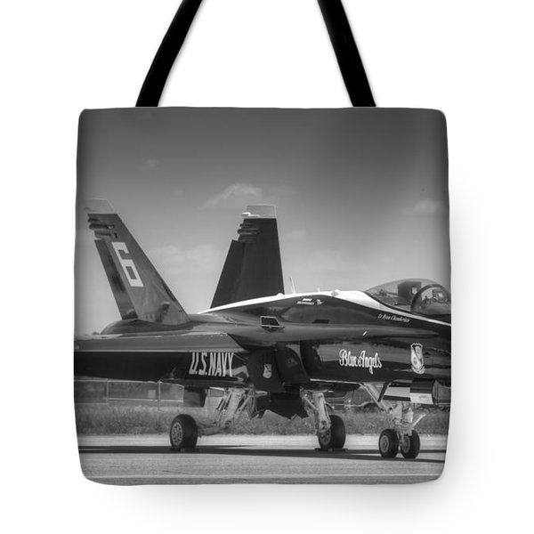 Angel 6 In Black And White Tote Bag