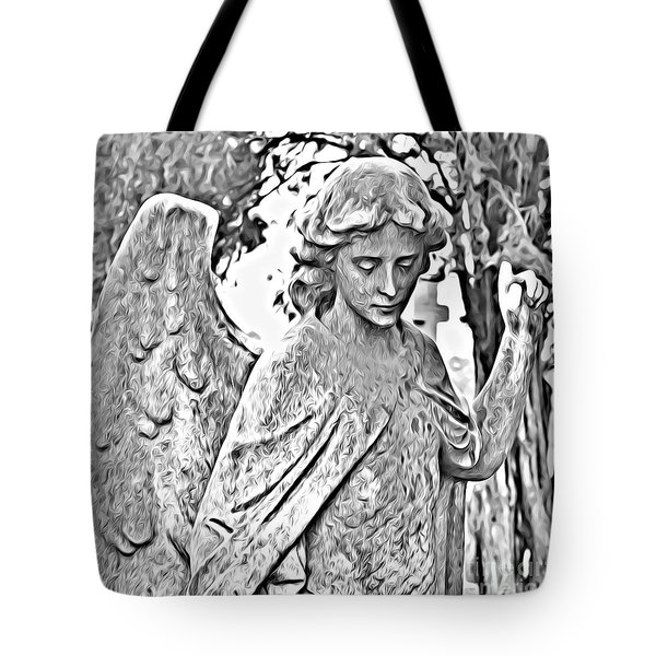 Angel Altered Tote Bag