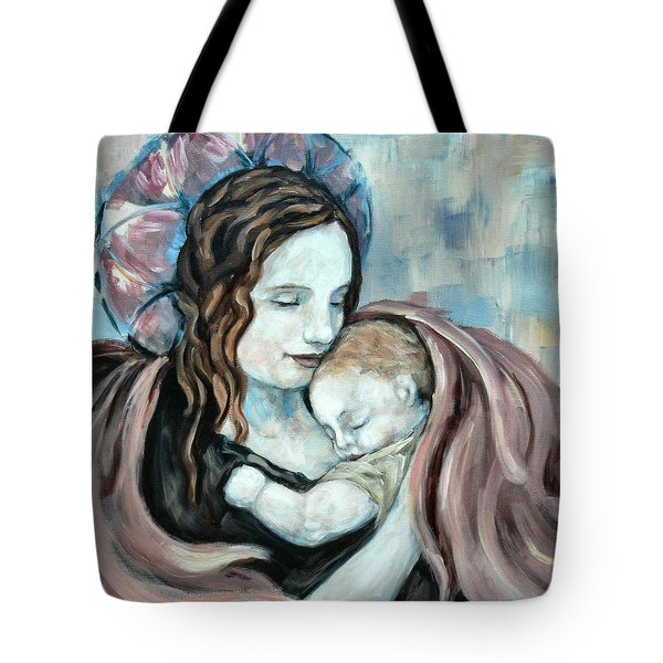 Angel And Baby No. 5 Tote Bag