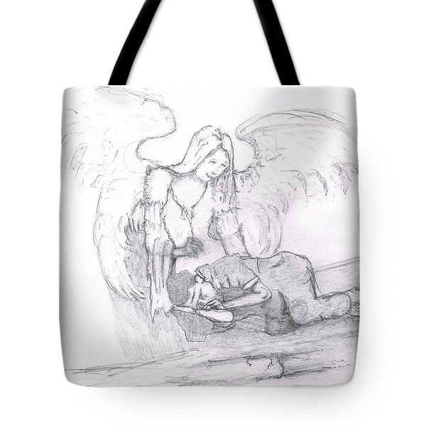 Angel And The Man Tote Bag