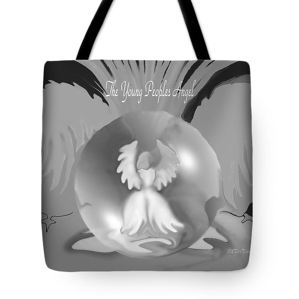 Tote Bag featuring the digital art Angel Art  Guardian Angel by Sherri  Of Palm Springs