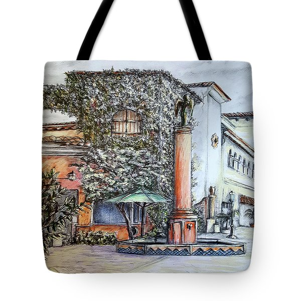 Angel At Santa Barbara Tote Bag by Danuta Bennett