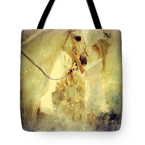 Tote Bag featuring the digital art Angel Blessings  by Riana Van Staden