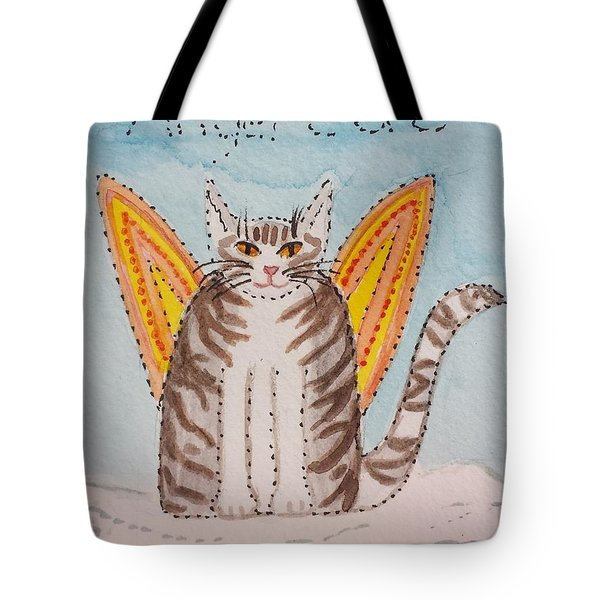 Angel Cat Tote Bag