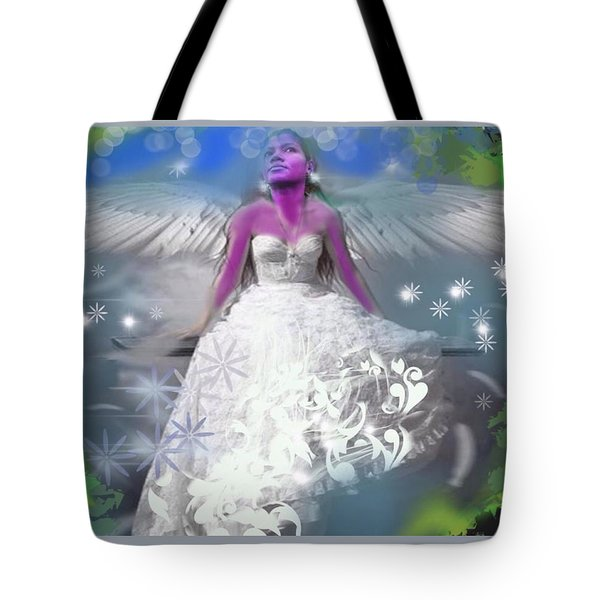 Tote Bag featuring the digital art Angel by Diana Riukas