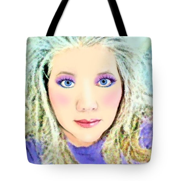 Tote Bag featuring the photograph Angel Eyes by Barbara Tristan