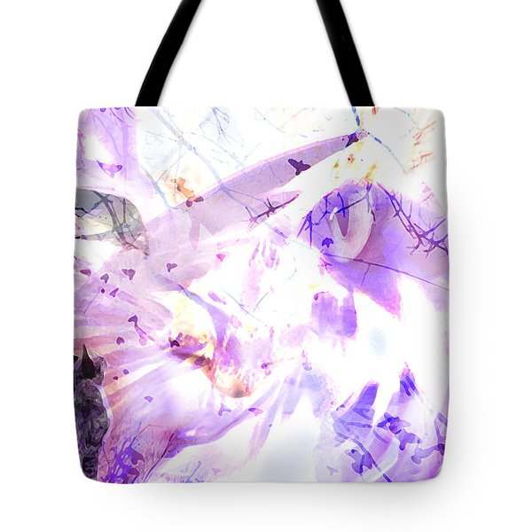 Tote Bag featuring the digital art Angel Eyes by Ken Walker