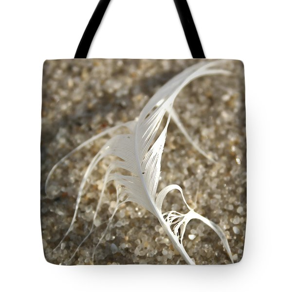 Angel Feather Tote Bag by Mary Haber