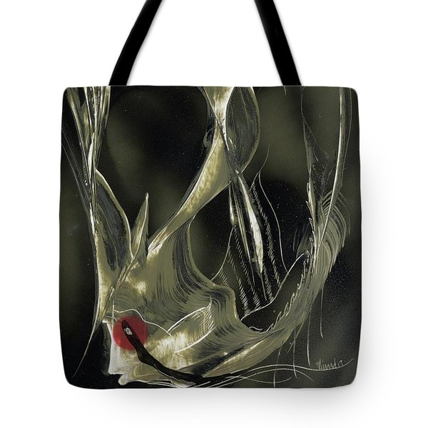 Tote Bag featuring the painting Angel Fish Abstract by Jason Girard