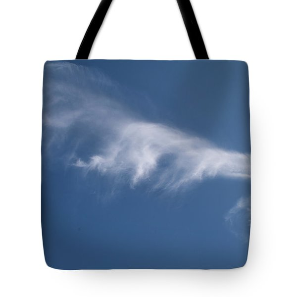 Tote Bag featuring the photograph Angel Flight In Blue Sky by Jenny Rainbow