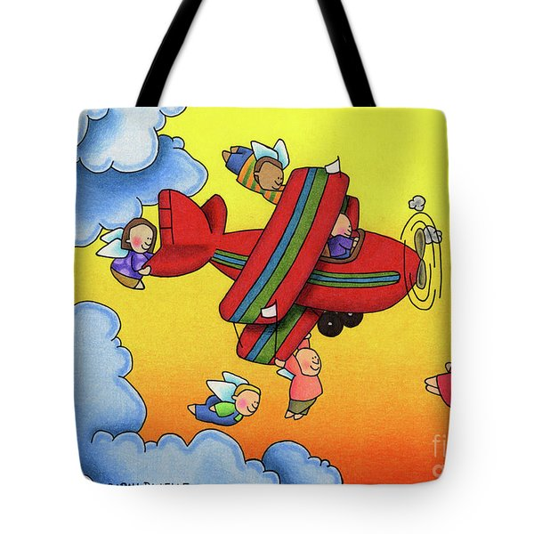 Angel Flight Tote Bag