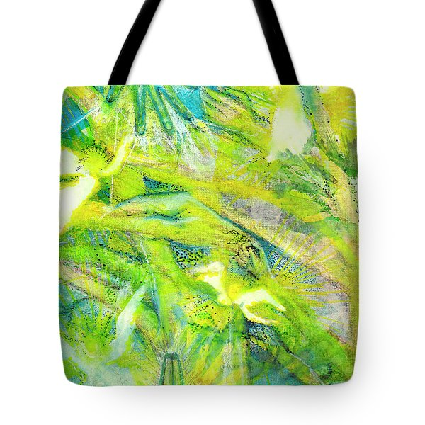 Tote Bag featuring the painting Angel Forest by Kym Nicolas