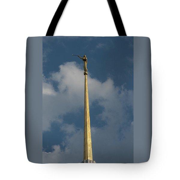 Angel Gabriel In The Sky Tote Bag