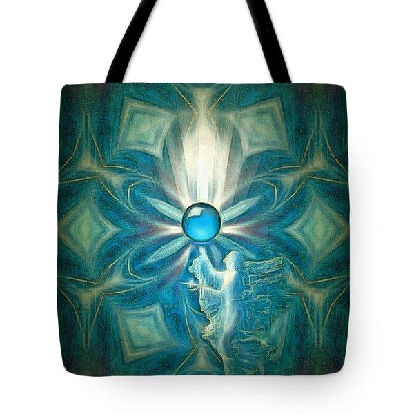 Angel Globe Tote Bag