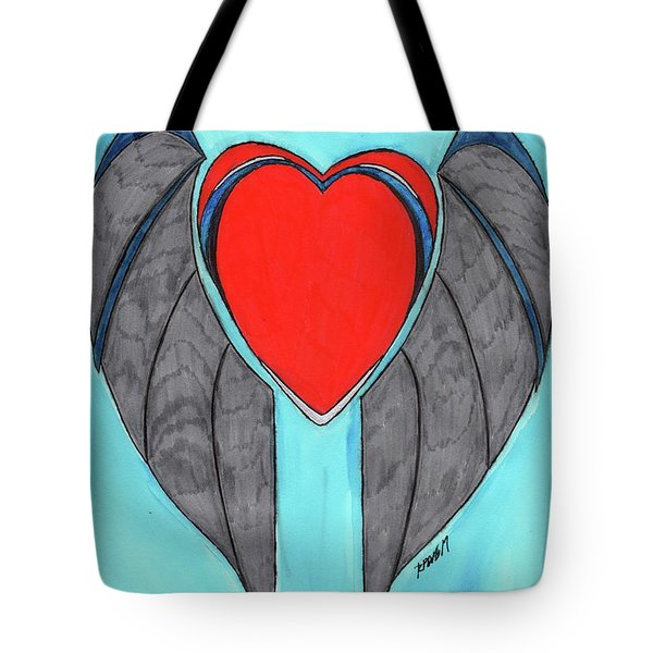 Angel Heart Tote Bag by Ronald Woods