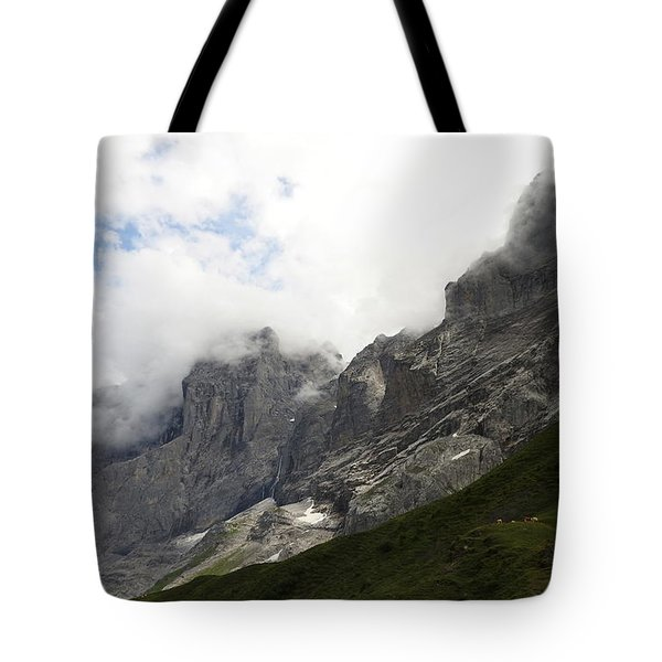 Angel Horns In The Clouds Tote Bag