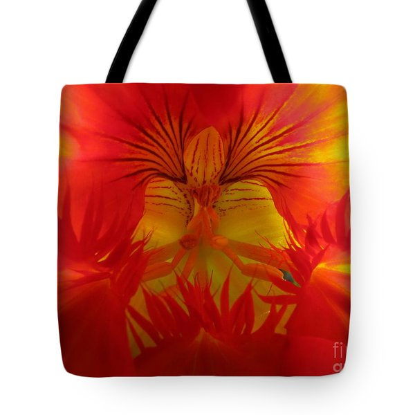 Angel In A Nasturtium Tote Bag by James B Toy