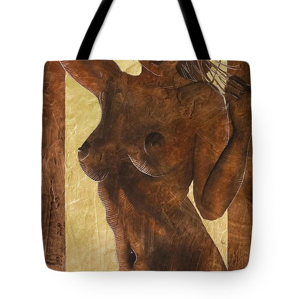 Angel In Gold Tote Bag by Richard Hoedl