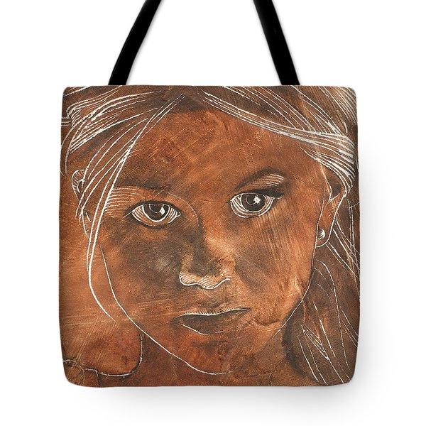 Angel In Process Head Detail Tote Bag by Richard Hoedl