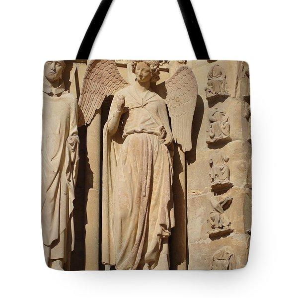 Angel In Reims Tote Bag