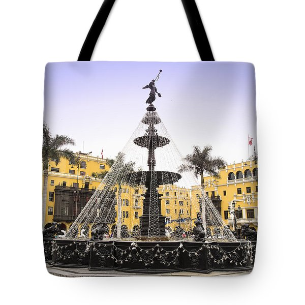 Angel In The Square Tote Bag