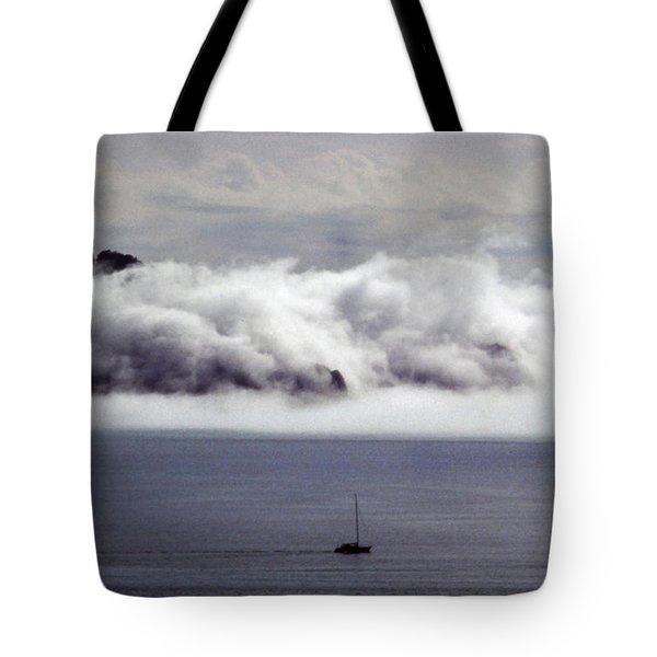 Angel Island Fog Tote Bag