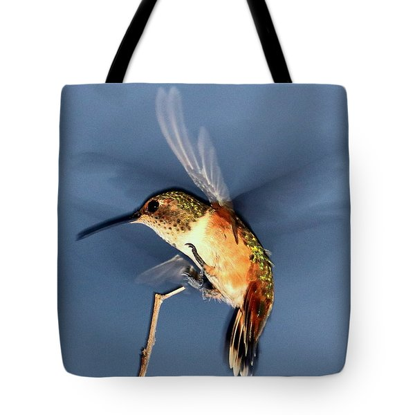 Angel Morphing Into A Hummingbird Tote Bag
