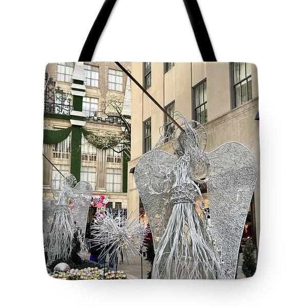 Angel New York City Tote Bag