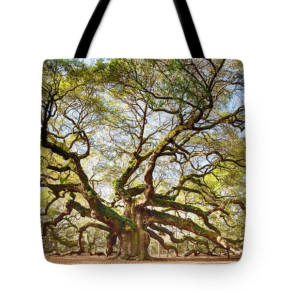 Angel Oak In Spring Tote Bag by Patricia Schaefer