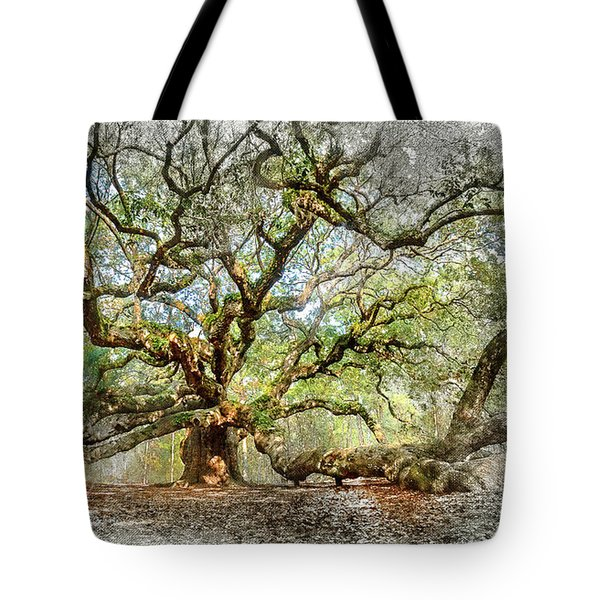 Angel Oak Mixed Media Tote Bag