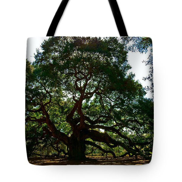 Tote Bag featuring the photograph Angel Oak Tree 2004 by Louis Dallara