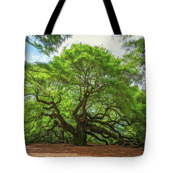 Angel Oak Tree In South Carolina  Tote Bag