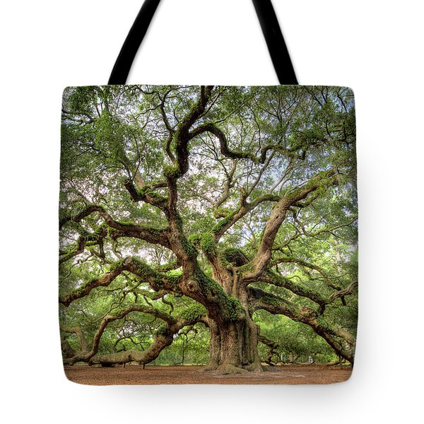 Angel Oak Tree Of Life Tote Bag