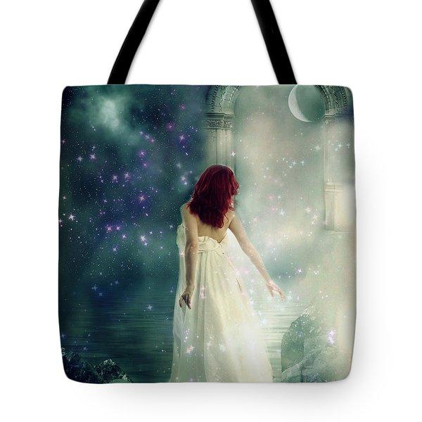 Tote Bag featuring the digital art Angel Of Dreams  by Riana Van Staden