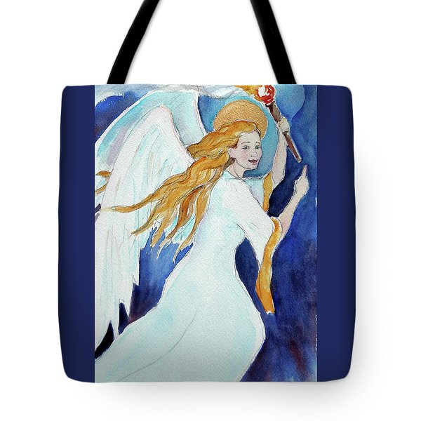 Angel Of Illumination Tote Bag