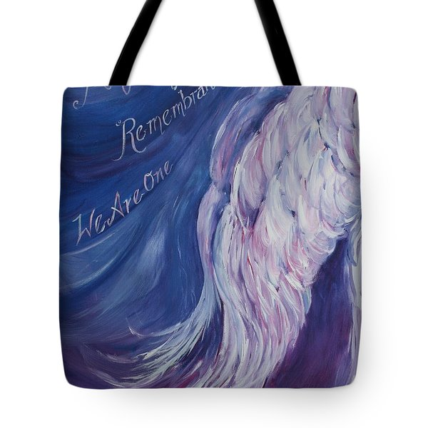 Angel Of Remembrance Tote Bag
