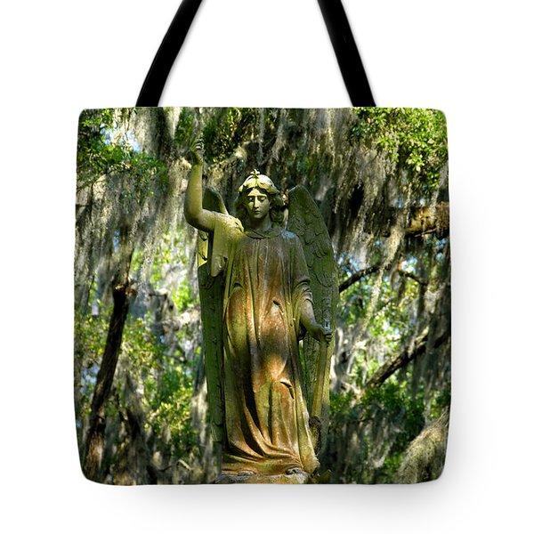 Angel Of Savanna Tote Bag by David Lee Thompson