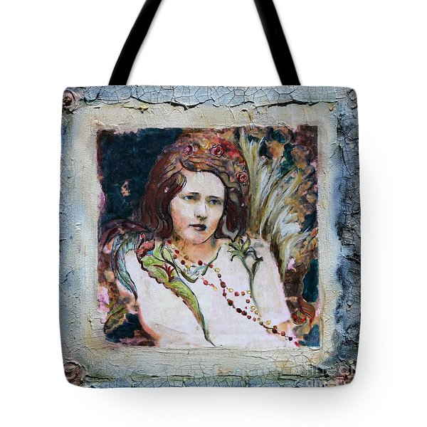 Angel Of The Roses Tote Bag by Carrie Joy Byrnes