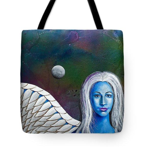 Angel Of The Shepherd Moon Tote Bag by Lee Pantas