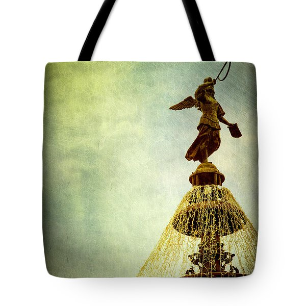 Angel On The Fountain Tote Bag