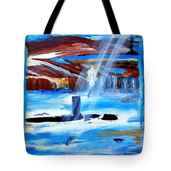 Angel Over Water Tote Bag